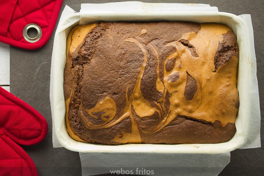 Bizcocho de Nutella® marmolado