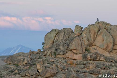 sunset sky mountain clouds colorado rocks watching hiker climber hartman gunnison a300f4