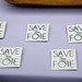 Save the Foie pins at the Press Room