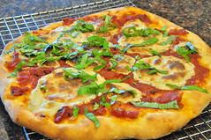 Pizza with Daiya Havarti and Basil