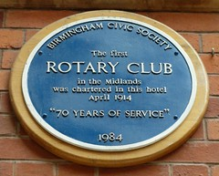 Photo of Rotary Club, Birmingham blue plaque