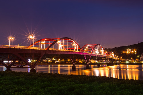 Arch Bridge at night 再訪關渡大橋