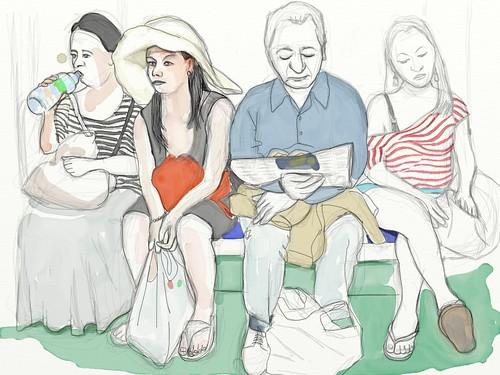 Retrat d'usuaris del metro d'Àlex Reventós