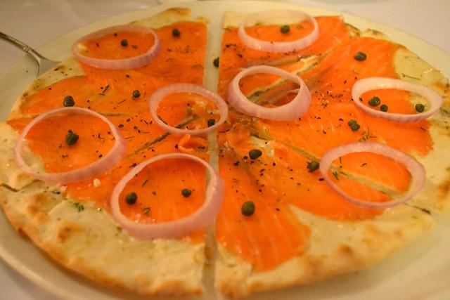 Smoked Salmon Pizza, Villa di Parma