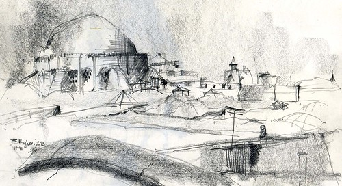 On the roof of the city (7) by Behzad Bagheri Sketches