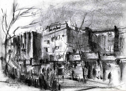 Chahar Bagh Boulevard  (5) by Behzad Bagheri Sketches
