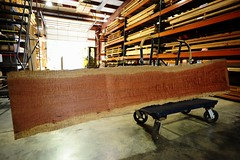 Exotic Hardwood slabs for Bar tops.