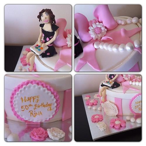 #50thbirthdaycake#sugarart #sugarpaste #sekerhamurlupastalar #50yaspastalari by l'atelier de ronitte