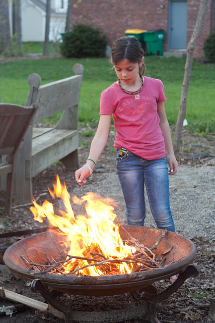 Teach kids to build a fire