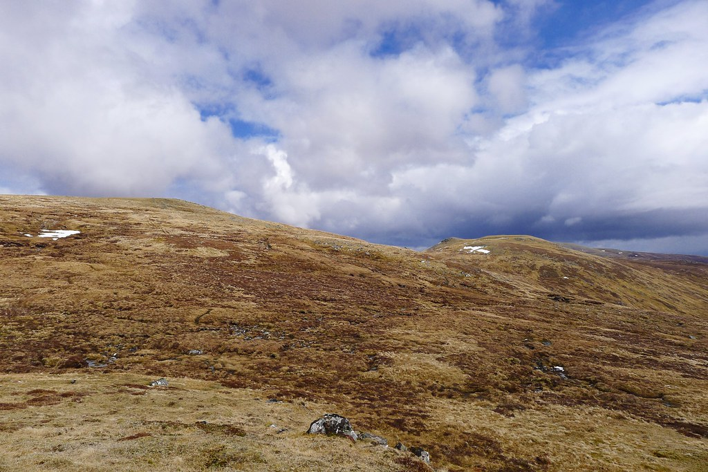 Looking up to Meall na h-Aisre