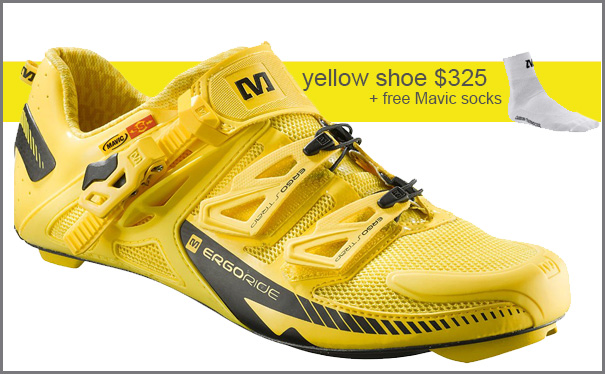 Mavic Road Shoe - The Yellow one $325 + Free Socks