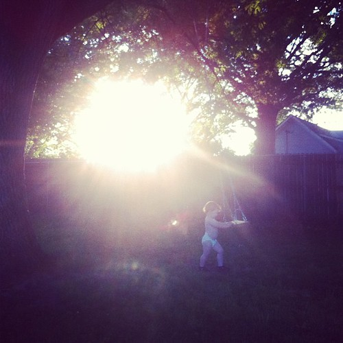 The SUN, JJ, and a swing @meganvanfleet
