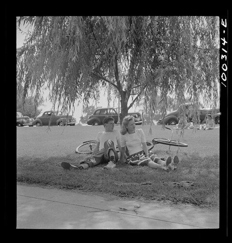 Cyclists at Haines Point, 1942