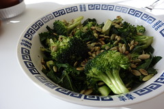 choy sum(0.0), rapini(0.0), broccoli(1.0), salad(1.0), vegetable(1.0), vegetarian food(1.0), leaf vegetable(1.0), produce(1.0), food(1.0), dish(1.0), cuisine(1.0),