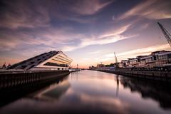 Dockland Hamburg at sunset