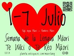 1-7 Julio: Semana de la Lengua Maori (Maori Language Week)