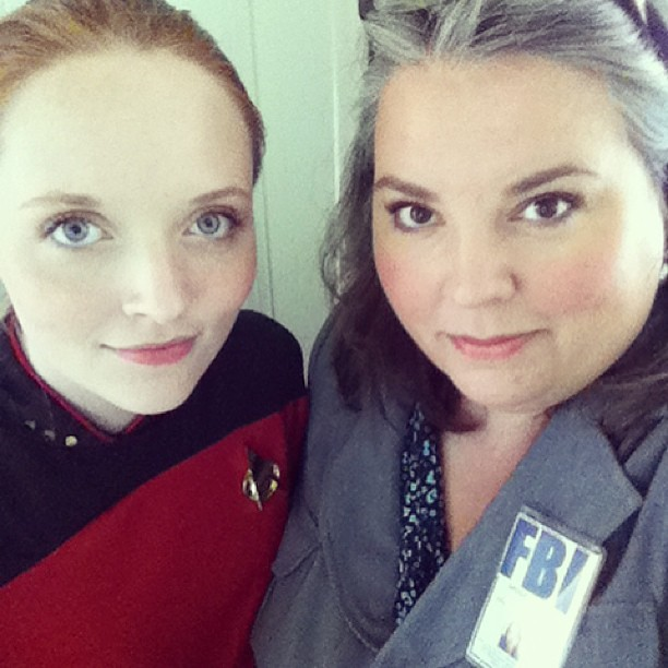 Lt. Commander Olivia and FBI Special Agent Bradstreet, reporting for #PortCon #geeks #unschooling #TNG
