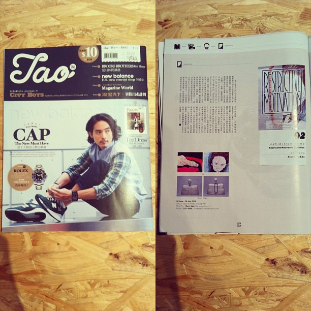 #restrictivemotivation thank you for TAO Magazine supporting!