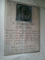 Photo of Elizabeth Fry stone plaque