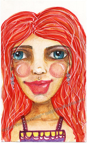 """Red Haired Woman"" ICAD : 6-16-13"
