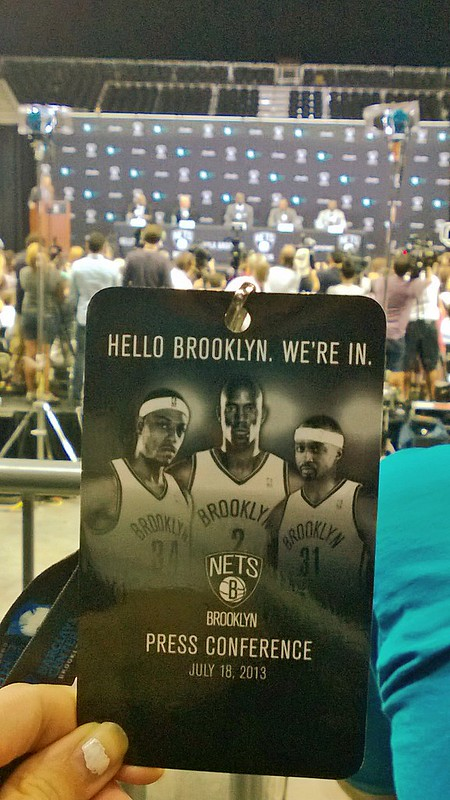 Hi Paul Pierce and Kevin Garnett.  HELLO BROOKLYN.