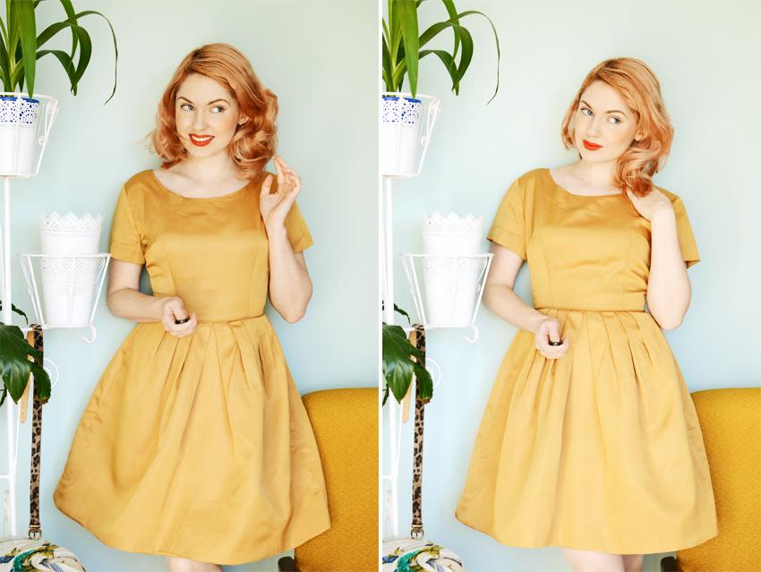 gold dress e