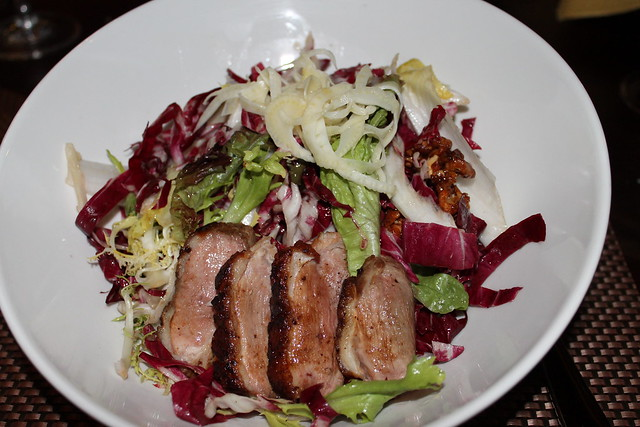 The Ked Knot Salad, with pomegranate-glazed duck breast and a butternut squash ginger vinaigrette