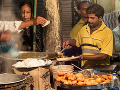 A varanasi seller by night - India