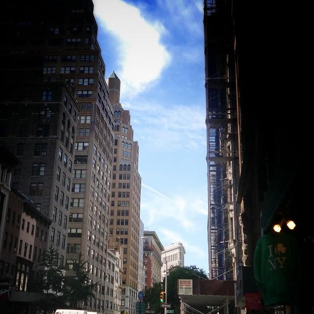Blue skies #walkingtoworktoday