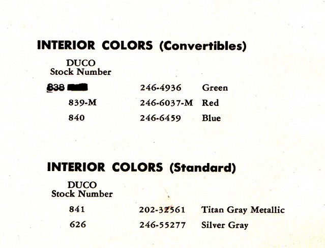 1950 chevy interior paint