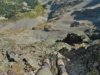Foot Dangle from Blanca Peak Summit