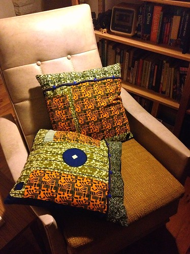 retro chair cushions back
