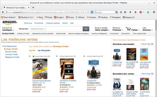 vente ebooks top 100 - mai 2014