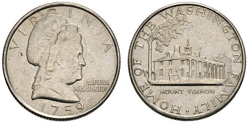 Martha Washington Dime Pattern