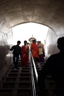 Taj Mahal Āgra 근처 의 이미지. white stairs taj mahal tajmahal agra marble