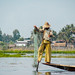 Fisherman dance in Inle lake, Burma