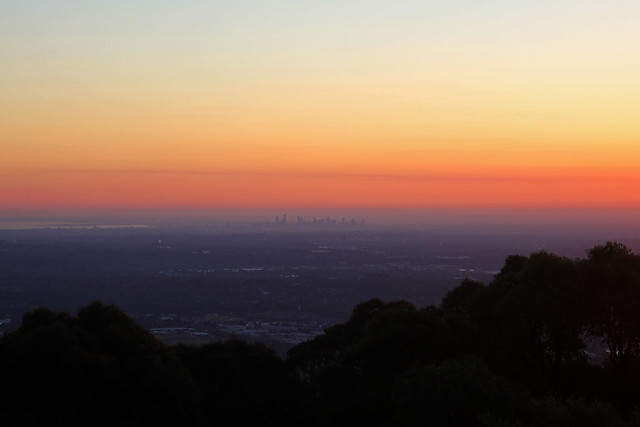 Sunset from Mt Dandenong