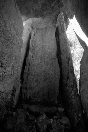 inside Knockeen Portal Tomb
