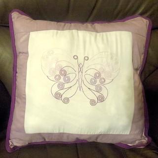 Butterfly pillow slip
