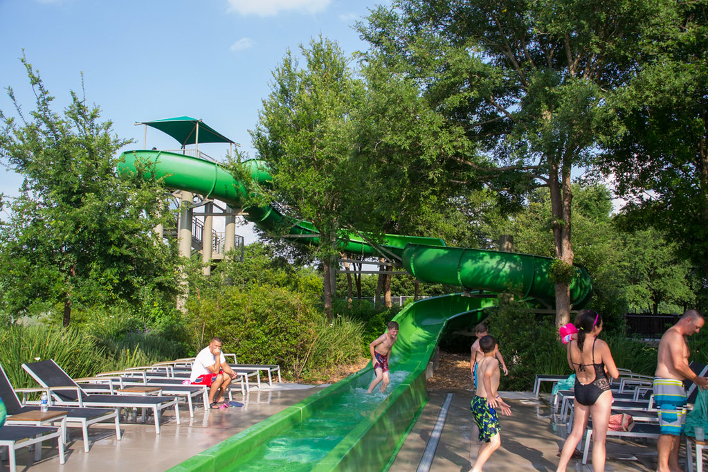Water slide at Hyatt Hill Country Resort and Spa