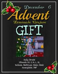 Advent Gift December 6 @ Lemonade Couture