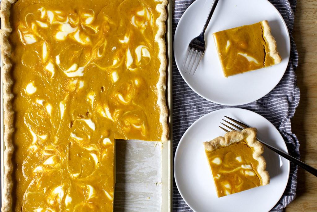 Cheesecake Marbled Pumpkin Slab Pie Cheesecake Marbled Pum