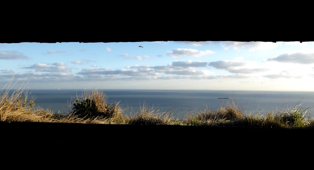 Gun emplacement view Folkestone to Dover walk