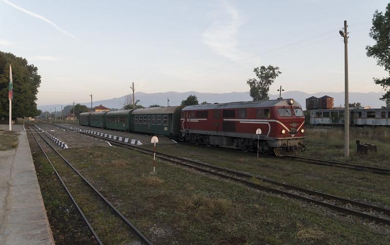 Train at the Bansko narrow gauge railway station, 16.09.2015.