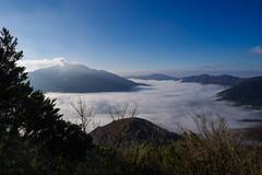 雲海に浮かぶ箱根山