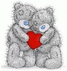 osos abrazados con corazon