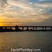 Sunset behind Roosevelt Bridge