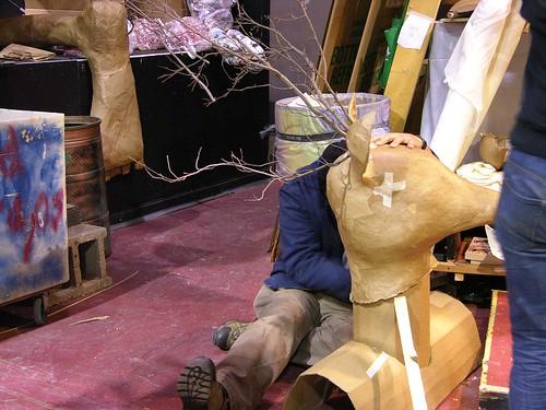MayDay 2012 deer head assemblage