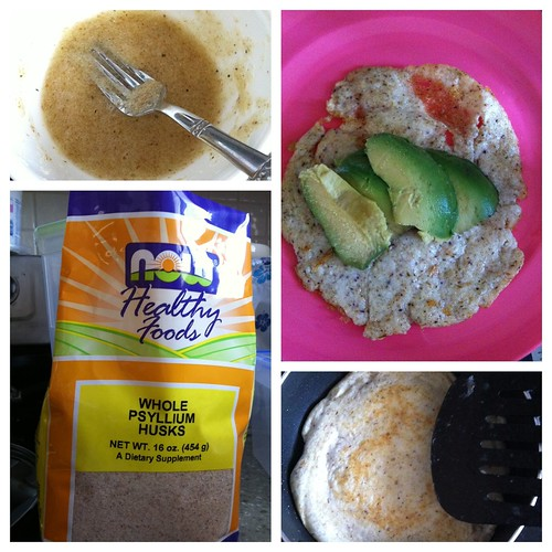 Made crepe/tortillas today with egg whites and psyllium husks