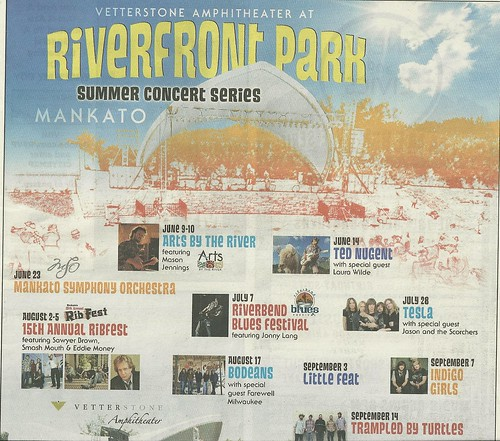 Summer 2012 Riverfront Park Concert Series, Mankato, MN (Top)